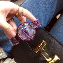 Mashali Popular Fashion Women Watch Leopard dial Rotation Steel Watches Female Luxury  wristwatches Ladies bracelet quartz watch