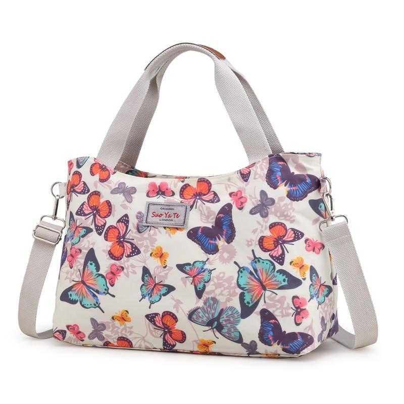 New Fashion Women Messenger Bags for Women Waterproof Nylon Floral Handbag Female Shoulder Bag Ladies Crossbody Flowers Bags