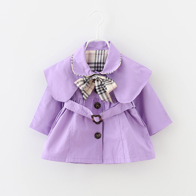 Baby Girl Coat With Belt And Bow