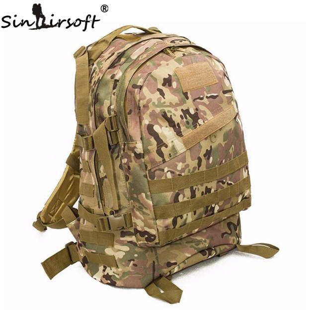 a6389f1225 Online Shop Molle 3D Military Tactical Backpack Men Sports Bag Travel  Backpack Rucksack Camping Hiking Trekking 40L Outdoor Sports Backpacks