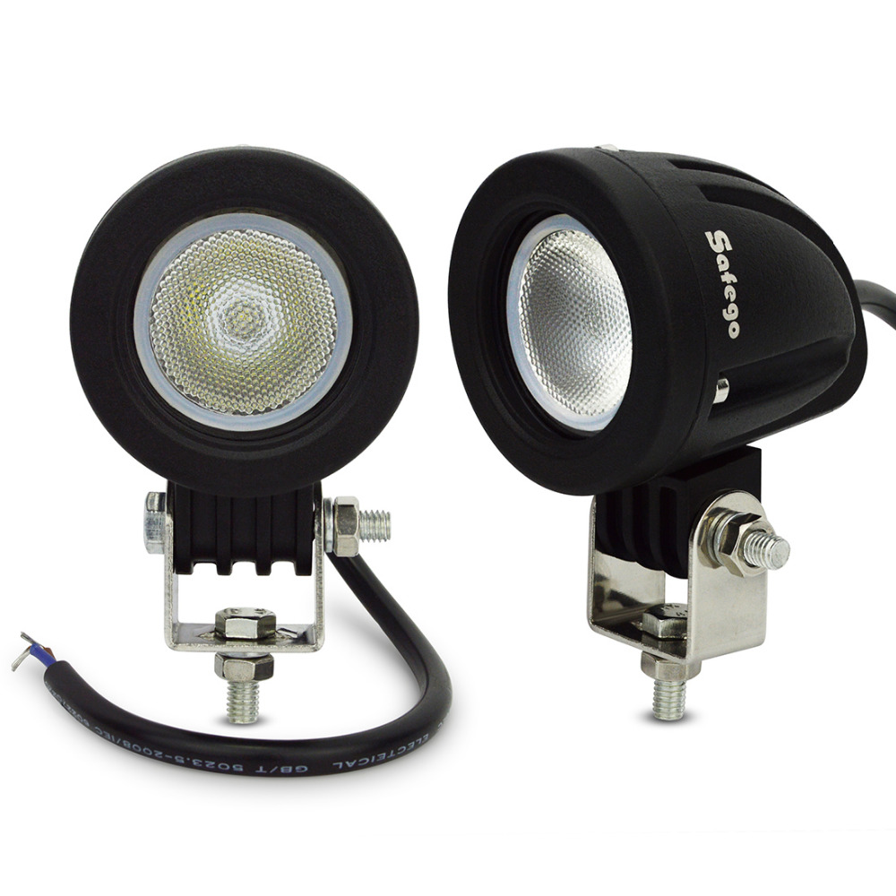 2pcs led driving light 10W led work lamp off road 10W led work light 12V LED tractor motorcycle work lights 12v 24v