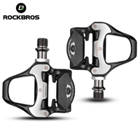 Rockbros spd-サイクリングロードバイクペダルクリップセルフロック超軽量アルミ合金2密封されたベアリング自転車ペ