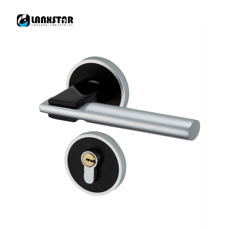 New Style High Quality Door Locks Brass Lock Interior Door Space Aluminiun Handle Locks Building Hardware Lockset factory interior door lock living room space aluminum mechanical lockset wholesale quality assuranced handle locks