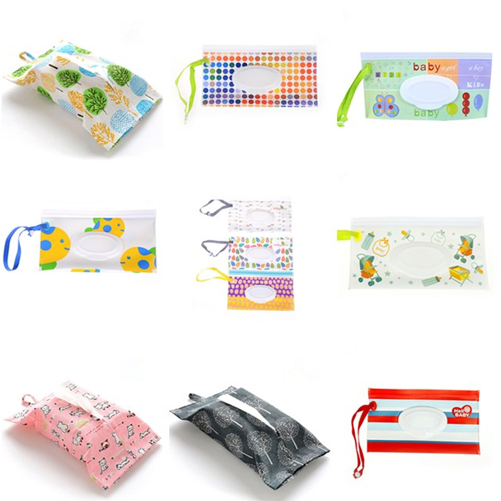 Aggressive Snap-strap Wipes Container Wet Wipes Bag Clamshell Cosmetic Pouch Clutch And Clean Wipes Eco-friendly Carrying Easy-carry Case To Have A Long Historical Standing