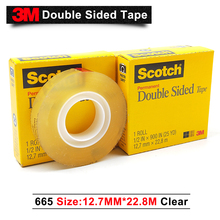 3m 665 double faced tape scotch transparent 665 double faced adhesive 12.7mm 22.8m*500 rolls per case free shipping