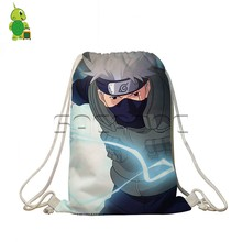 Anime Naturo Drawstring Bag Teenagers Boys Girls School Shoulder Bags Naruto Sasuke Printed Cosplay Backpack Kids Daily Bags(China)