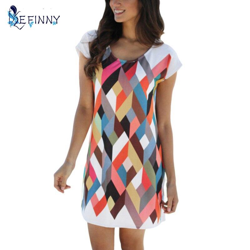 2017 alkalmi nyomtatott ing női ruha tavaszi és nyári ruha női - Női ruházat