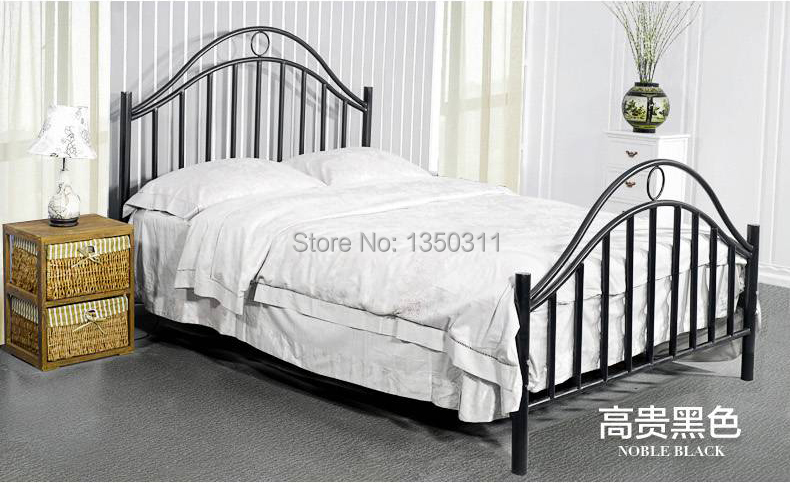 Enhanced version of European style Metal bed iron bed double bed pastoral style student bed 1.5 meters 1.8 meters стоимость