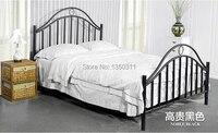Versão melhorada de estilo europeu de ferro de Metal de estudante estilo pastoral cama 1.5 metros 1.8 metros