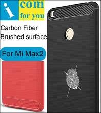 Углеродного волокна Чехол Для Сяо Mi Max 2 Max2 анти хит ударопрочный матовый ТПУ Силиконовые протектор