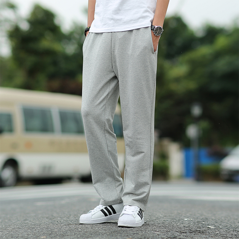 Men pants plus size 2018 spring and autumn elastic male loose straight trousers student casual pants 5XL 6XL red black gray