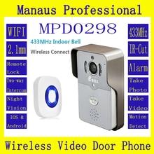 WI-FI Полный Дуплекс Аудио Непромокаемые Видео Домофон Открытый Монитор Интерком Дверной Звонок с 720 P ПИР HD Ip-камера ATZ-DBV01P-433MHz