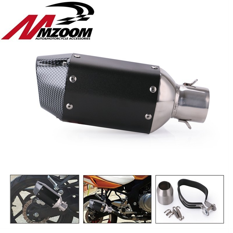 Muffler Exhaust-Pipe 51mm Removable-Accessories Silencer Stainless-Steel Universal Motorcycle