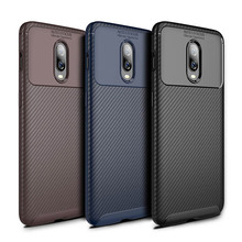 For Oneplus 6T 6 Case One Plus Cover Luxury Carbon Fiber Silicone Phone Bag Business Matte Shockproof
