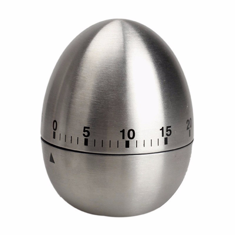 Mechanical Egg Kitchen Cooking Timer Countdown 60 Minutes Alarm Stainless Steel Cooking Tool Kitchen Timer Egg
