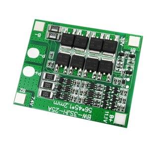 10 PÇS/LOTE 3 S 25A 18650 PCM BMS placa de proteção da bateria de Lítio Li-ion bms pcm com equilíbrio para li-ion lipo
