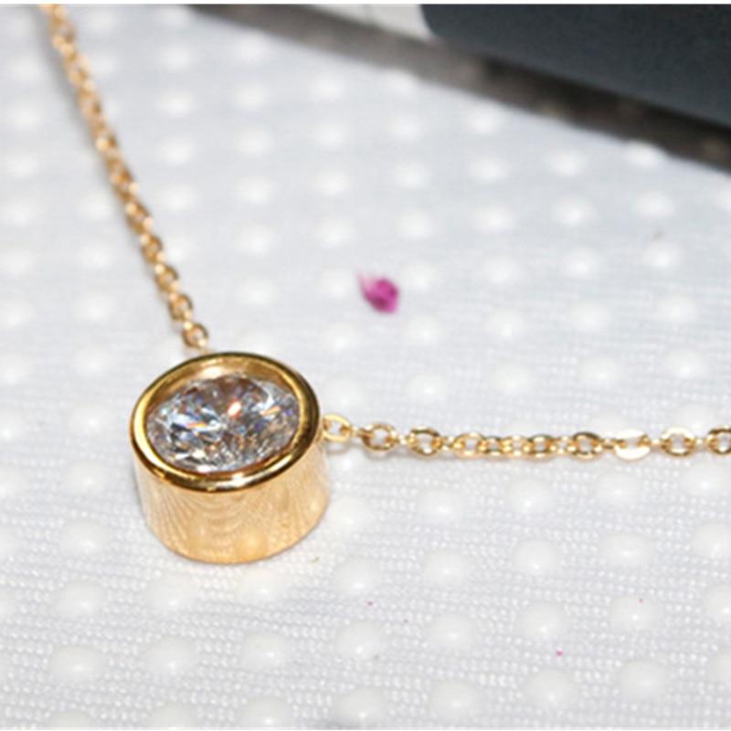 2017 new fashion small fresh temperament crystal rose gold short chain fashion girl gift