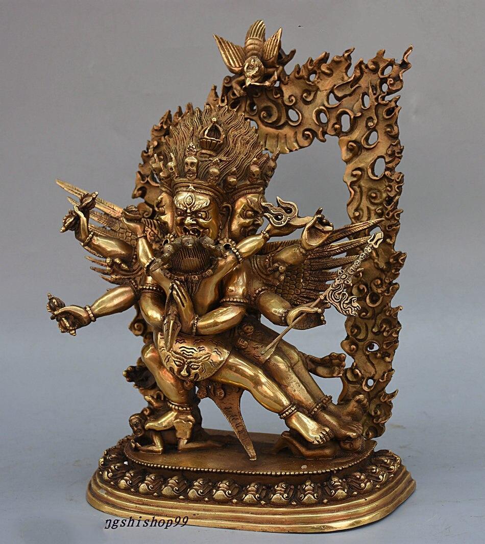 Le Bouddhisme Tibétain En Laiton De Cuivre de noël Vajrakilaya Vajragilaya Dorje Purpa Bouddha Statue halloween