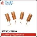 50 шт./лот 433 МГц Винтовой Весной Антенна SW433-TH10 для беспроводной RFmodule
