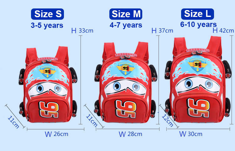 2018 New Cartoon 95 Car Boy Girl Baby Kindergarten Nursery School bag Bagpack Teenager Schoolbags Canvas Kids Student Backpacks 44