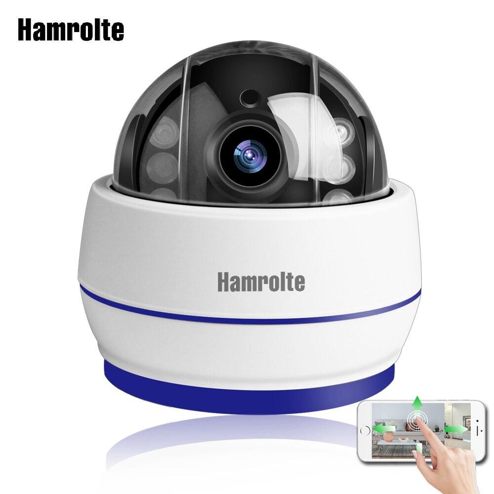 Caméra dôme de vitesse caméra Wifi Hamrolte 1080 P 5X Zoom Auto mise au point intérieure caméra IP PTZ fente pour carte SD enregistrement Audio Onvif CamHi