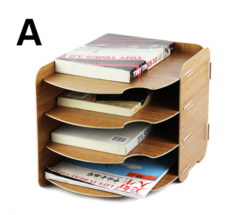 DZOFFICE creative wooden desktop office file frame A4 paper 4 layer promotional materials shelf Eco-friendly wood document trays ноутбук asus x553sa xx137d 15 6 intel celeron n3050 1 6ghz 2gb 500tb hdd 90nb0ac1 m05820
