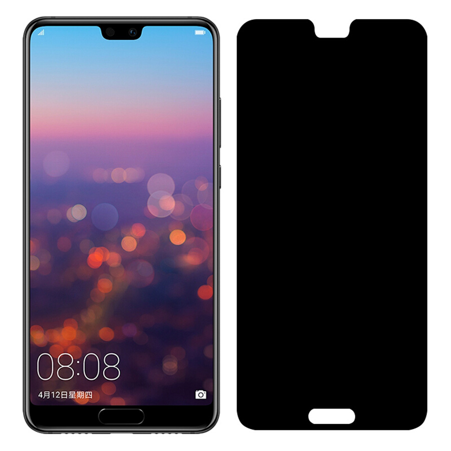 For Huawei P20 Lite Anti Spy Tempered Glass P20 Pro Screen Protector Full Cover Film Privacy Tempered Glass For Huawei P20