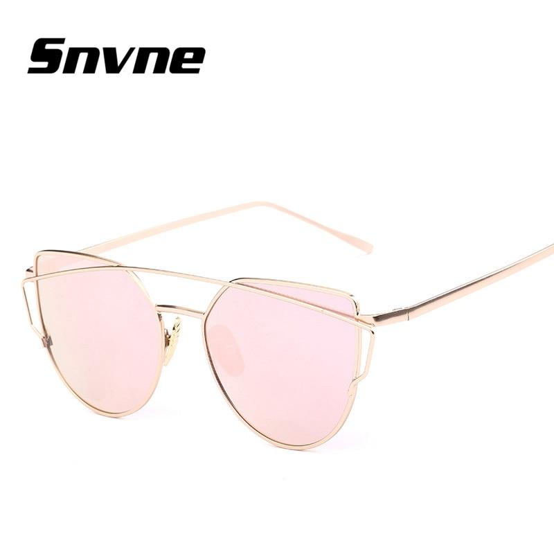 3e90ad84563796 Snvne Cat Eye Aviator Sonnenbrille Frauen Vintage Mode Metallrahmen Spiegel  Sonnenbrille Flache sonnenbrille Damen Sonnenbrille UV400 in Snvne Cat Eye  ...