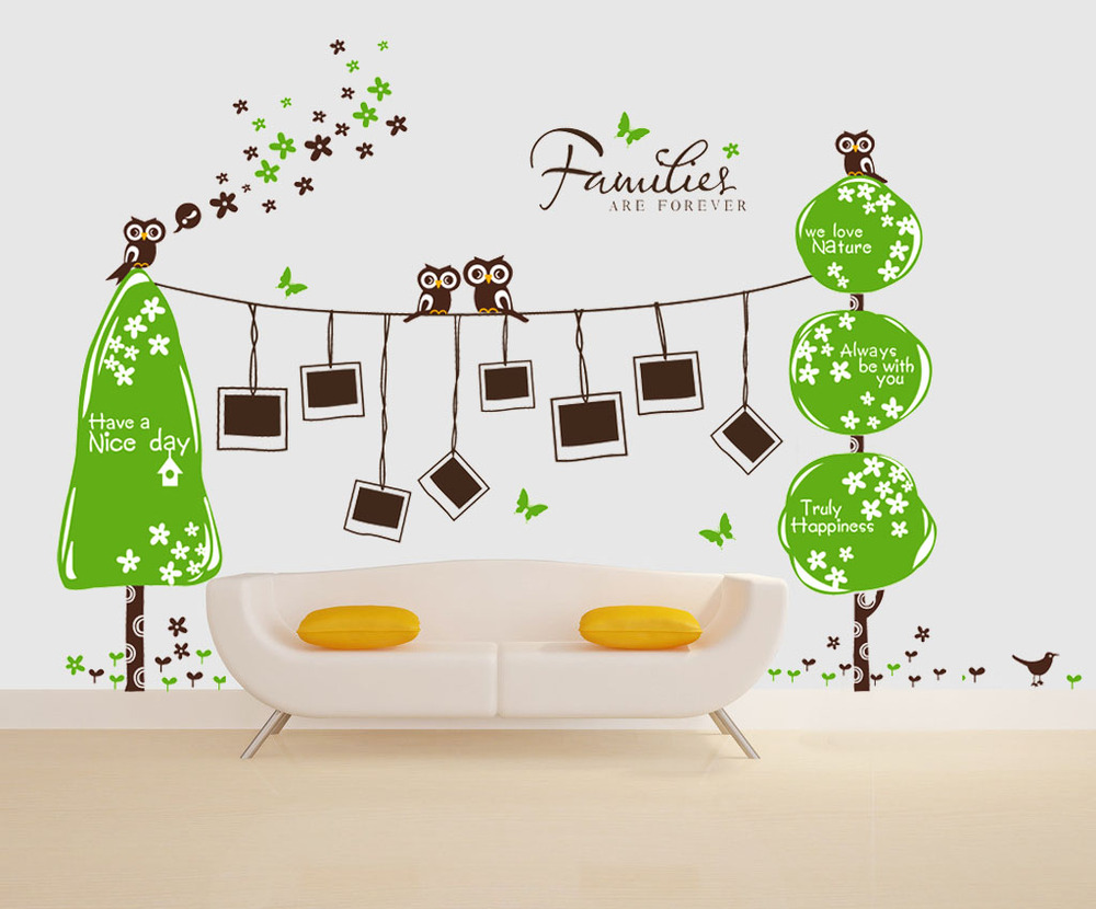 New!!! 2015 Design Extra Large 160x300cm Owl Wall Sticker Photo ...
