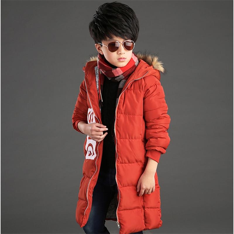2016 children s long sleeved boy in children s hooded coat Hooded children s thick cotton