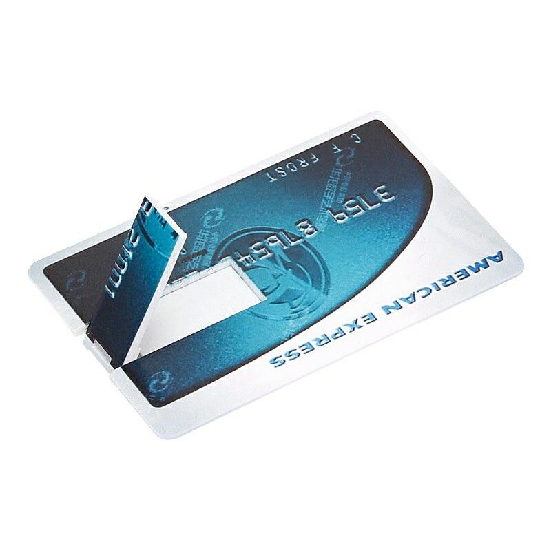 Pendrive Creative Usb Flash Drive 64GB Pen Drive 4GB 8GB 16GB 32GB 128GB Usb 2.0 Standard Chartered Card U Disk Free Print LOGO-in USB Flash Drives from Computer & Office