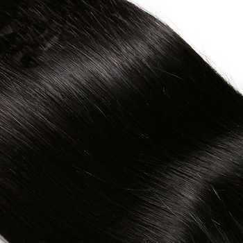 Rosabeauty Straight Silk Base Closure Remy Brazilian Hair 4X4 Silk Closure with Bleached Knots Middle Part