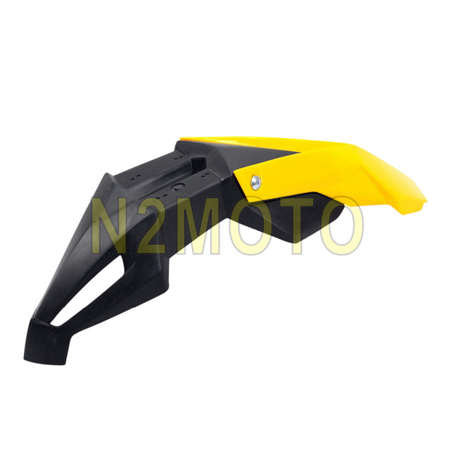 US $11 3 5% OFF|Yellow+Black Motorcycle Front Fender Motocross Dirt Bike  Mudguard Mud Cover For KAWASAKI KLX 250 450 DRZ KX YZ WR-in Covers &