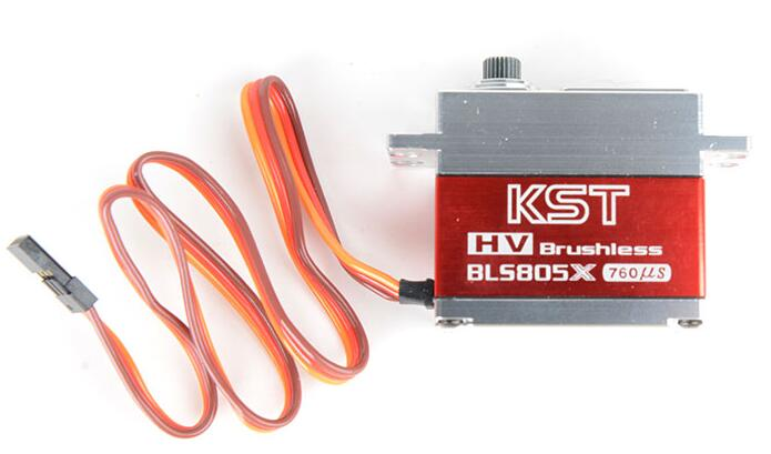 цена KST BLS805X HV Brushless servo High Voltage Metal Gear Servo for 550-700 RC heli Multicopter Drones