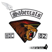 Sabercats HDC 82 lion patch full back size embroidery iron on custom biker patches for clothing vest jacket reapermagic 1% mc iron on patch motorcycle biker large full back size embroidery patch for jacket vest rocker custom