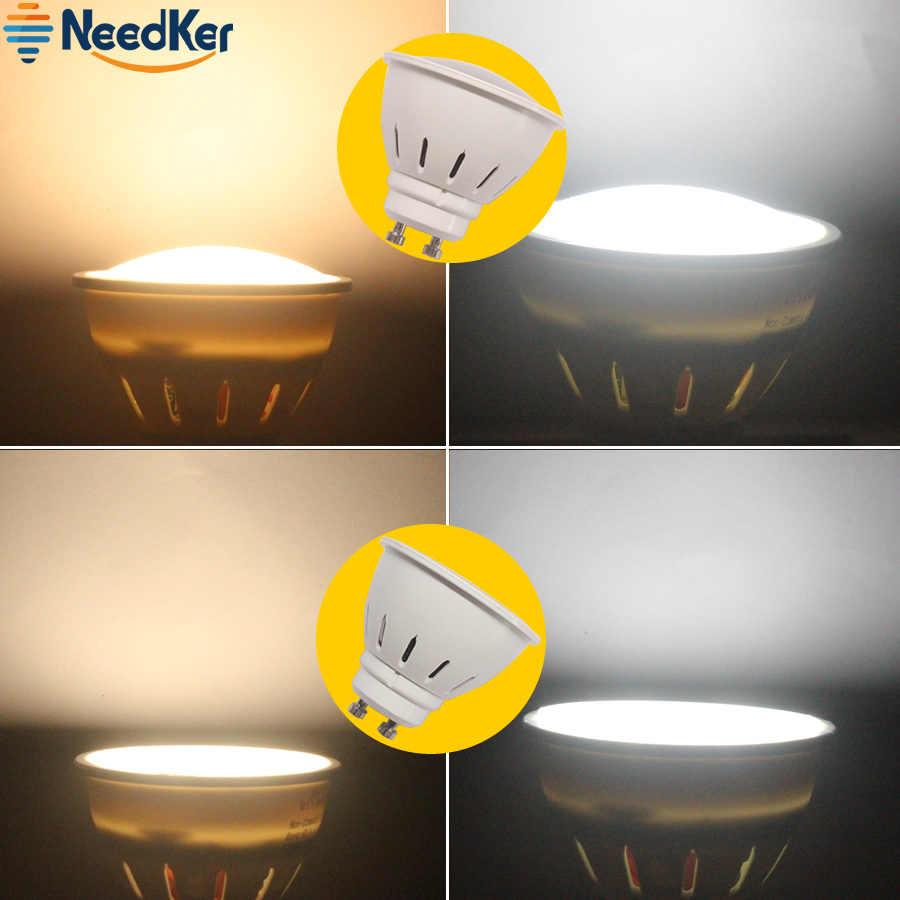 Gu10 светодиодные лампы точечного света 2 Вт, 3 Вт, 5 Вт, SMD2835 колпак для лампы 9 W 12 W 15 W Cob Светодиодная лампа AC 110 V 220 V 240 V Светодиодные лампы Теплый Холодный белый свет