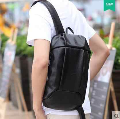 Brand Women And Men Backpack Fashion Casual PU Leather Backpacks School  Style Solid Student Mini Backpack ed4f7a6198c57