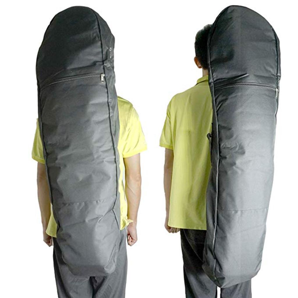 120cm Skateboard Longboard Zipper Pocket Storage Bag Carry Pouch Backpack