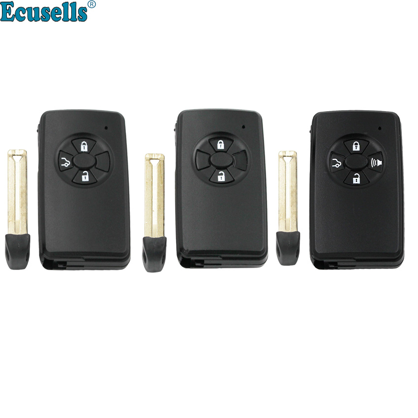 2/3/4 buttons <font><b>Remote</b></font> <font><b>key</b></font> shell case housing fob for <font><b>TOYOTA</b></font> Auris <font><b>Yaris</b></font> RAV4 Urban Cruiser RAV4 with small insert <font><b>key</b></font> image