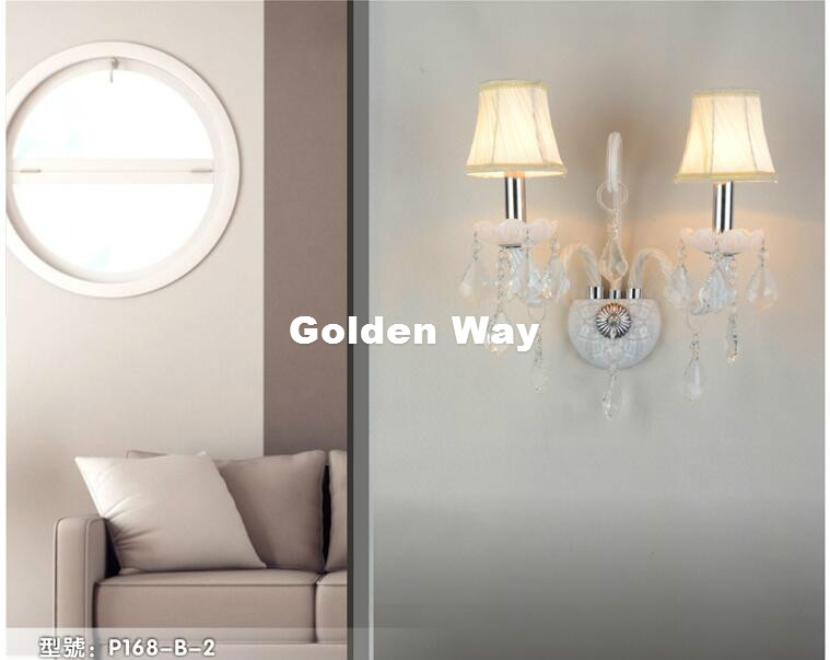 US $41.25 11% OFF|Modern White Color Crystal Design Wall Lamp K9 Crystal  Wall Lamps Bedroom Headboard Bedside Lamp Wall Sconce Light Fixture-in LED  ...