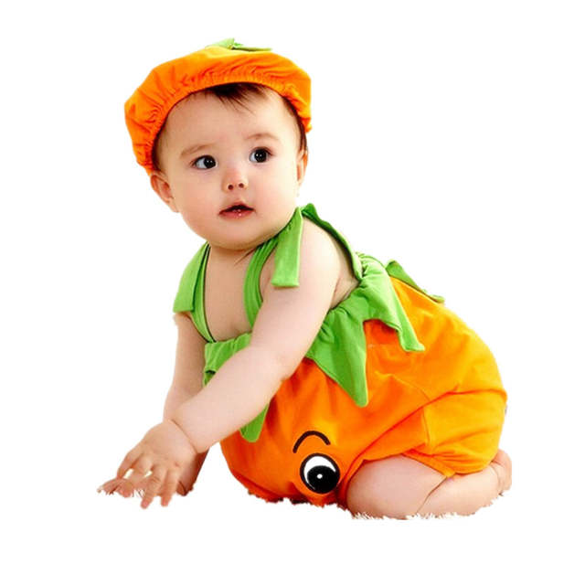 Baby Kürbis Strampler Halloween Persimmon Modellierung