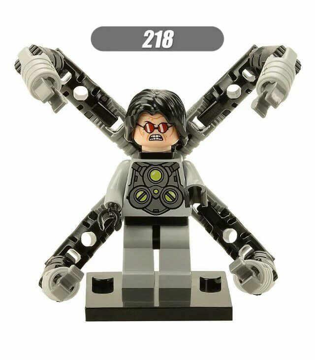 GUSUG 20 шт. XH218 Супер герои Marvel Мстители доктор Осьминог паук-Гвен Аквамен строительные блоки лучший подарок детские игрушки