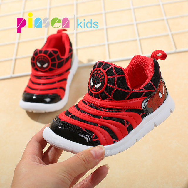 2019 Spring Spiderman Children Shoes For Boys Sneakers Girls Sport Child Casual Light Breathable Baby Boys Flats Kids Shoes