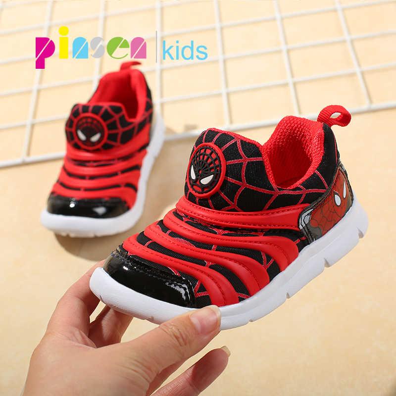 6825c595 2019 Primavera Verano Spiderman niños zapatos zapatillas para niños niñas deporte  Niño Casual luz transpirable bebé