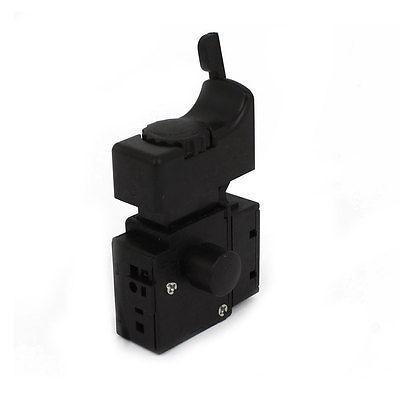 Replacement FA2-6/1BEK Speed Control Trigger Switch AC 250V 6(6)A 5E4 Black 5e4 ac 250v 4a speed control lock on trigger switch spst for electric drill