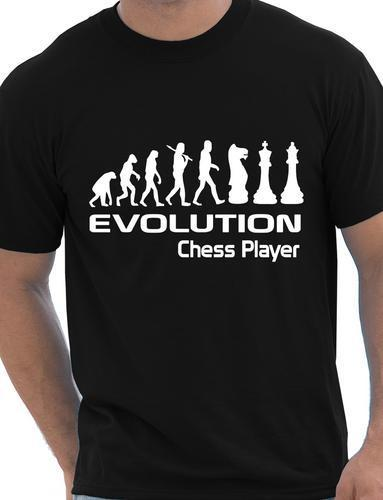 Evolution Of Chess Player Funny Adult Mens T-Shirt Birthday Gift Size S-XXXL Cool Casual pride t shirt men Unisex New Fashion image