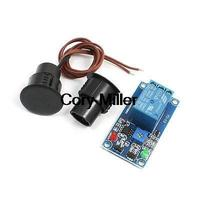 Black Reed Door Contact Switch Magnetic Switch Sensor Relay Module Set