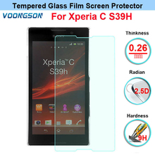 Top quality Tempered Glass Anti Shatter Screen Protector For Sony Xperia C S39h C2305 Film original guarantee test ok for sony xperia c s39h c2304 c2305 lcd display touch screen with frame best quality in stock