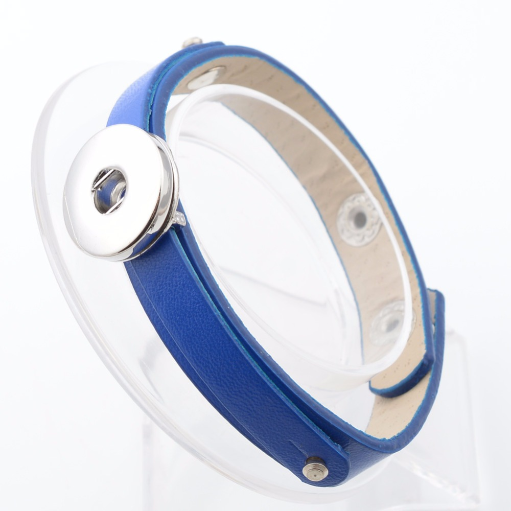 High quality PU leather Bracelets For Women Fit 18mm DIY Button Jewelry NB5039