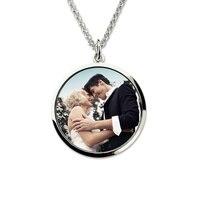 Groothandel Sterling Zilveren Gegraveerde Kleur Fotografie Ketting Foto Sieraden Custom Gedenkteken Ketting Gift voor Moeder